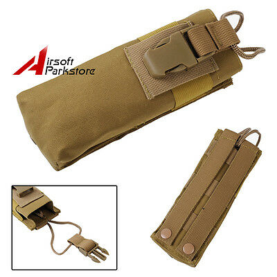 Tactical Molle Belt PRC 148 MBITR Radio Walkie Talkie Pouch Bag CS Painball Tan