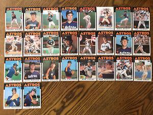 1986-HOUSTON-ASTROS-Topps-COMPLETE-Baseball-Team-Set-26-Cards-RYAN-DAVIS-CRUZ