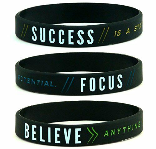 6-pack Inkstone Autism Awareness Bracelets Silicone Wristbands in Adult Unisex Size