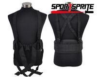 Tactical Outdoor Molle Waist Belt Soft Padded Belt Sling H-shaped Suspender Bk