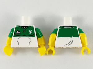LEGO-Minifigure-Torso-Green-Top-with-Sports-Logos-Pattern-S19-Ftb