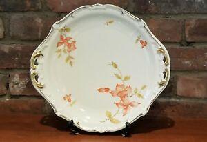 Weimar-Katharina-Porcelain-Platter-with-Orange-Flowers-German-Vintage