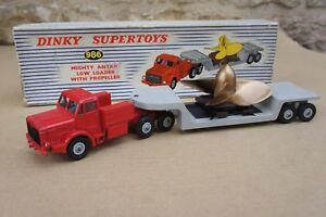 Véritable Dinky Toys 986 Mighty Antar Low Loader avec hélice