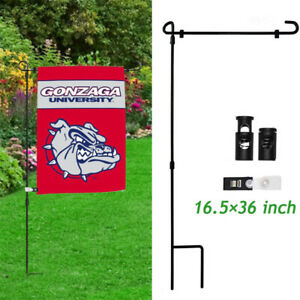 Xmas-Garden-Flag-Stand-Banner-Holder-Wrought-Iron-Weather-Proof-Yard-Flag-Pole