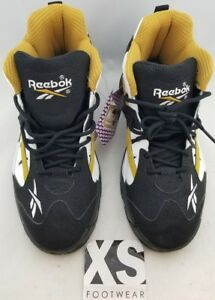 7e46c6043d1 Reebok Hexalite Gold Black White Cross Trainers Men s US Size 5.5 (M ...