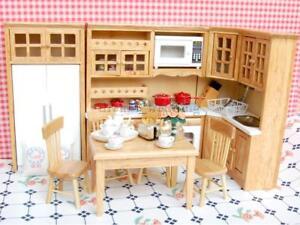 magideal puppenhaus miniatur k che m bel set porzellan tee set 1 12 ebay. Black Bedroom Furniture Sets. Home Design Ideas