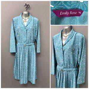 Emily-Rose-Sky-Blue-Floral-Pleated-Dress-UK-16-EUR-44-US-12