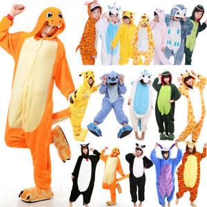 2df198abd Unisex Adult Kids Kigurumi Pajamas Cosplay Costume Animal Sleepwear ...