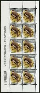 Belgio-2019-Gomma-integra-non-linguellato-ELEZIONI-SABBIA-MARTIN-10v-M-S-MARTINS-birds-stamps