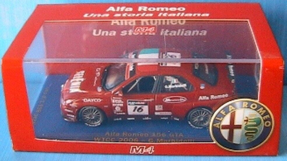 ALFA ROMEO 156 GTA  16 WTCC 2006 MORBIDELLI M4 1 43 rouge limited edition