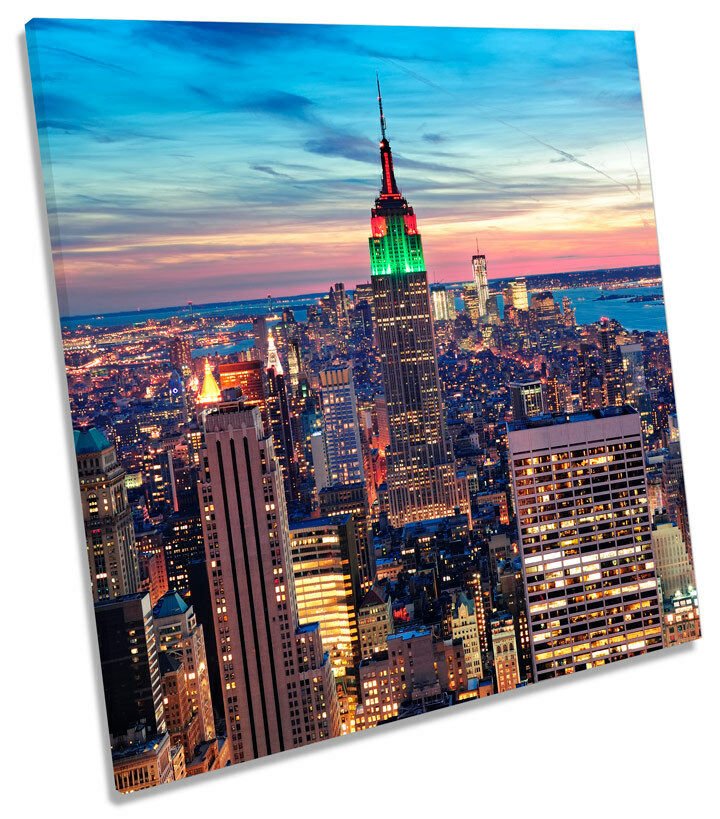 New York City SQUARE BOX FRAMED CANVAS ART Picture