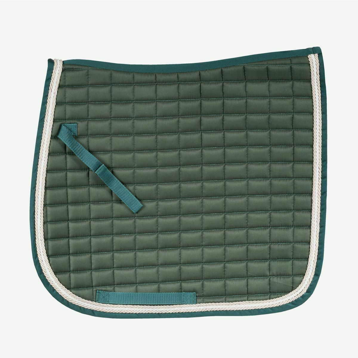Horze Windsor Quilted Dressage Saddle Pad with Three Rows of Corded Trim