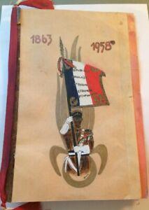 LÉGION ÉTRANGÈRE. 95éme anniversaire de CAMERONE.MENU DU 30 AVRIL 1958.