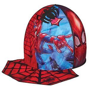 Officiel-Spiderman-Secret-Cachette-Pop-Up-Tente-de-Jeu-avec-Spider-Toile-Tapis
