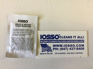 Image is loading 0-5oz-IOSSO-MOLD-MOULD-MILDEW-STAIN-REMOVER- & 0.5oz IOSSO MOLD MOULD MILDEW STAIN REMOVER CANVAS CLEANER Tent ...