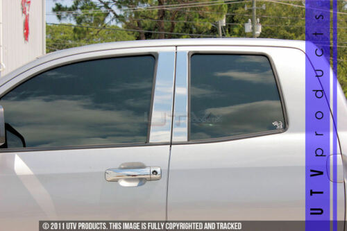 GTG 2007-2020 Toyota Tundra Double Cab 4PC Chrome Stainless Steel Pillar Posts