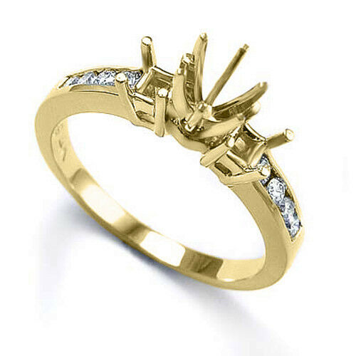 .30 CWT Round Cut Diamond Semi Mount Engagement Ring 14k Free Shipping.