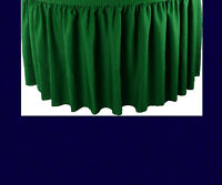 21' Navy Premium Flame Retardant Table Skirts - Fire Resistant Table Skirting
