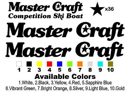 "Classic Stars /& Stripes MasterCraft Decal Set 40.125/"" Long"