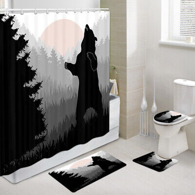 Shower Curtain Toilet Cover Rug