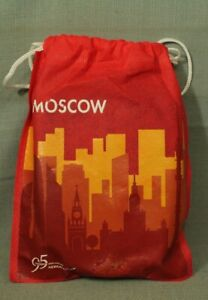 Aeroflot Russian Soviet airlines 95 years with you Moscow bag slippers
