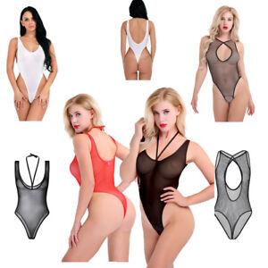 984d518a47 Image is loading Teddy-Womens-One-piece-Mesh-Fishnet-Jumpsuit-Swimwear-