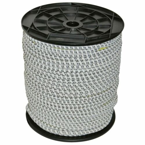 Kerbl Gummi Elektroseil Weidezaunseil Weidezaun Seil Kordel 50 m 7 mm 441891