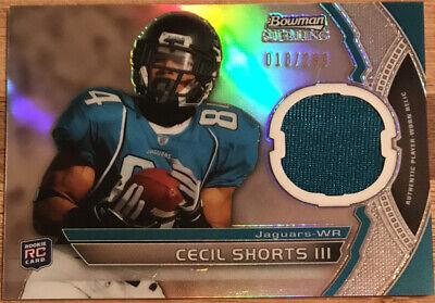 2011 Bowman Sterling Jersey Cecil Shorts III BSR-CS #'d 018/299   eBay