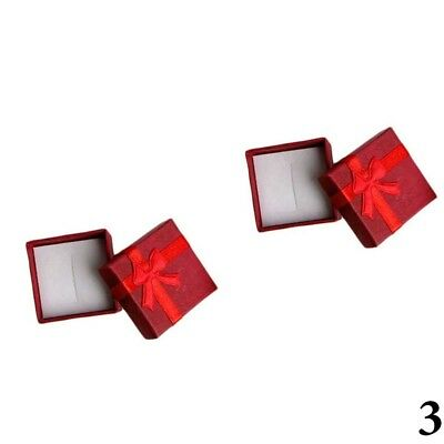 10Pcs Lots New Ring Earrings Jewelry Display Gifts Boxes Bowknot Square Case