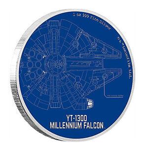 1-oz-Silber-Star-Wars-Ships-Millenium-Falcon-2017-PP-im-Etui-mit-Zertifikat