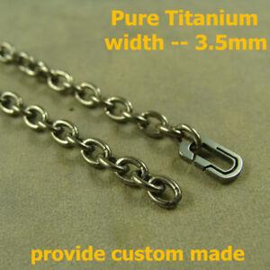 Pure Titanium Anti-allergy Necklace 3mm Ti Ball Chain 23.62 inches