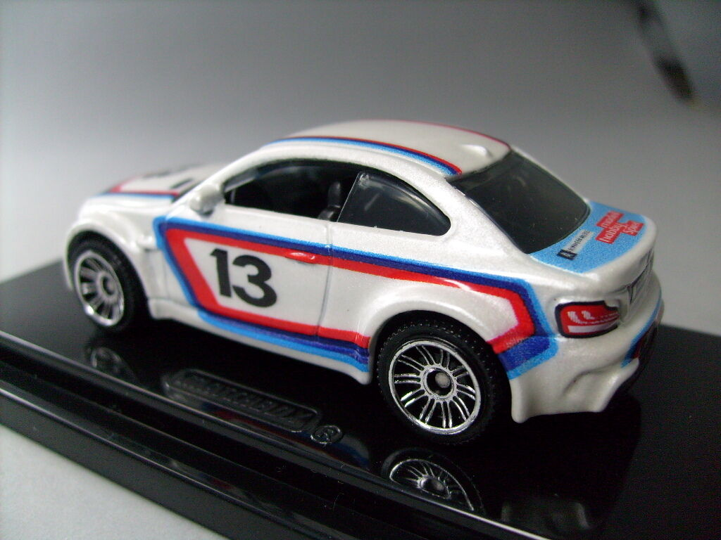 Matchbox 2014 Leipzig BMW 1M Coupe white BMW Rennlook 1 of 500 - only few left