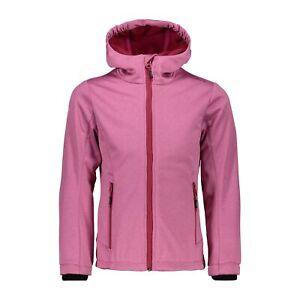 Cmp Softshelljacke Veste Girl Jacket Fix Hood Rose Coupe-vent Imperméable Chiné-afficher Le Titre D'origine ProcéDéS De Teinture Minutieux