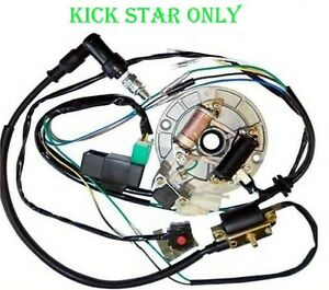 wire harness wiring loom cdi coil magneto spark plug 50 125 dirt pit rh ebay com loncin 125 pit bike wiring diagram chinese 125 pit bike wiring diagram
