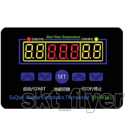 Digital Thermostat Red LED Digital Temperature Controller Switch Sensor 12V 10A