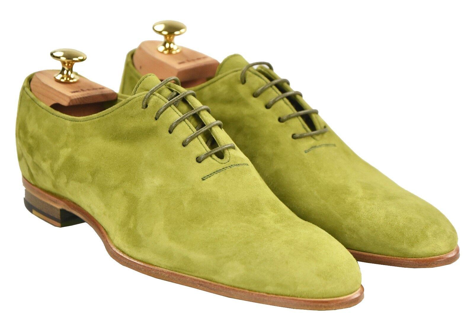 Nouveau KITON NAPOLI Chaussures 100% Cuir Daim Taille 7 US 40 EU 19O11