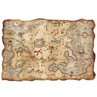 Plastic Treasure Map Halloween Pirates Party Decoration