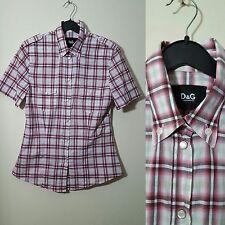 Dolce & Gabbana D&G Size 44 UK 12 US 8 IT 44 Pink Checked Shirt Plaid Tartan
