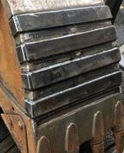 HARDOX 500 Verschleißbleche Aufpanzerung  zum Einschweißen Zuschnitt L=490mm