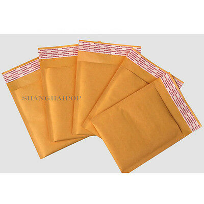 50 X Bubble Padded Envelope Bag Mailer Postal Wrap Lined CD/DVD Assorted Size