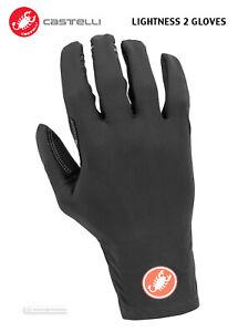 NEW-Castelli-LIGHTNESS-2-Long-Finger-Lightweight-Winter-Cycling-Gloves-BLACK