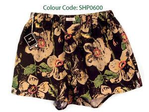 Silk-Boxer-Short-Men-Underwear-Underpants-Soft-Briefs-Trunk-Black-Beige-S-M-L-XL