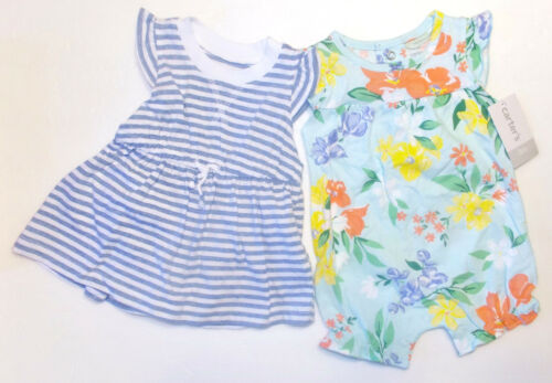 Carter/'s Infant Girls 3pc Romper Dress Bloomers Sets 3 Choices NB /& 3M NWT