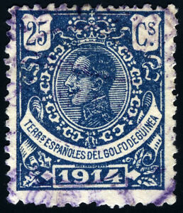 GUINEA-USADO-ELOBEY-ALFONSO-XIII