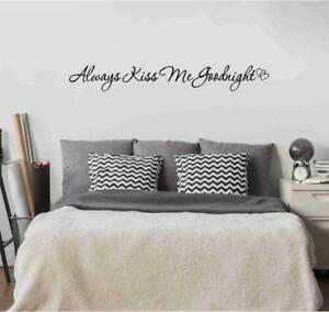 Image Is Loading Always Kiss Me Goodnight Hearts Vinyl Decal