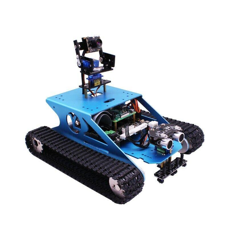 WiFi robot car robot Tank car kit aluminum Alloy w Camera for Raspberry Pi os12