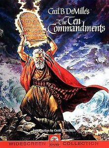 The Ten Commandments DVD, Martha Scott, Nina Foch, Cedric Hardwicke, John Derek,