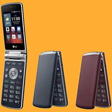 """LG Gentle F580L 3MP 3.2"""" 2G 3G 4G Faux-Leather Flip Clamshell Android Smartphone"""