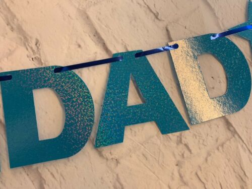 HAPPY BIRTHDAY DAD BANNER DADDY 30 40 50 60TH FAMILY PARTY BUNTING DECORATION