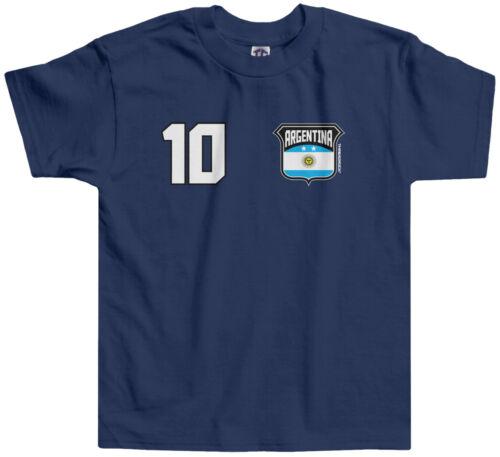 Threadrock Kids Team Argentina Soccer Toddler T-shirt World Cup Football